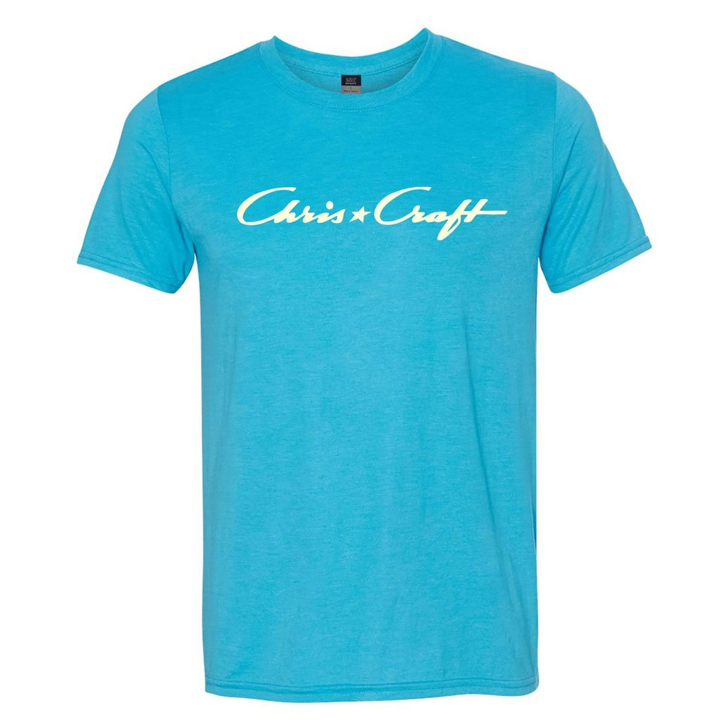 Chris Craft Shirt, Tri-Blend Tee Pacific Blue