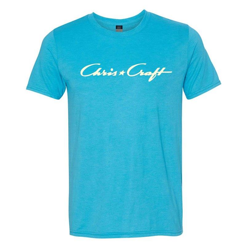 Chris Craft Shirt, Tri-Blend Tee Pacific Blue