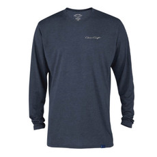 Chris Craft Classic Logo Tri-Blend Long Sleeve Shirt - Navy Heather