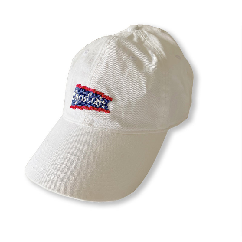Needle Point Hat - White