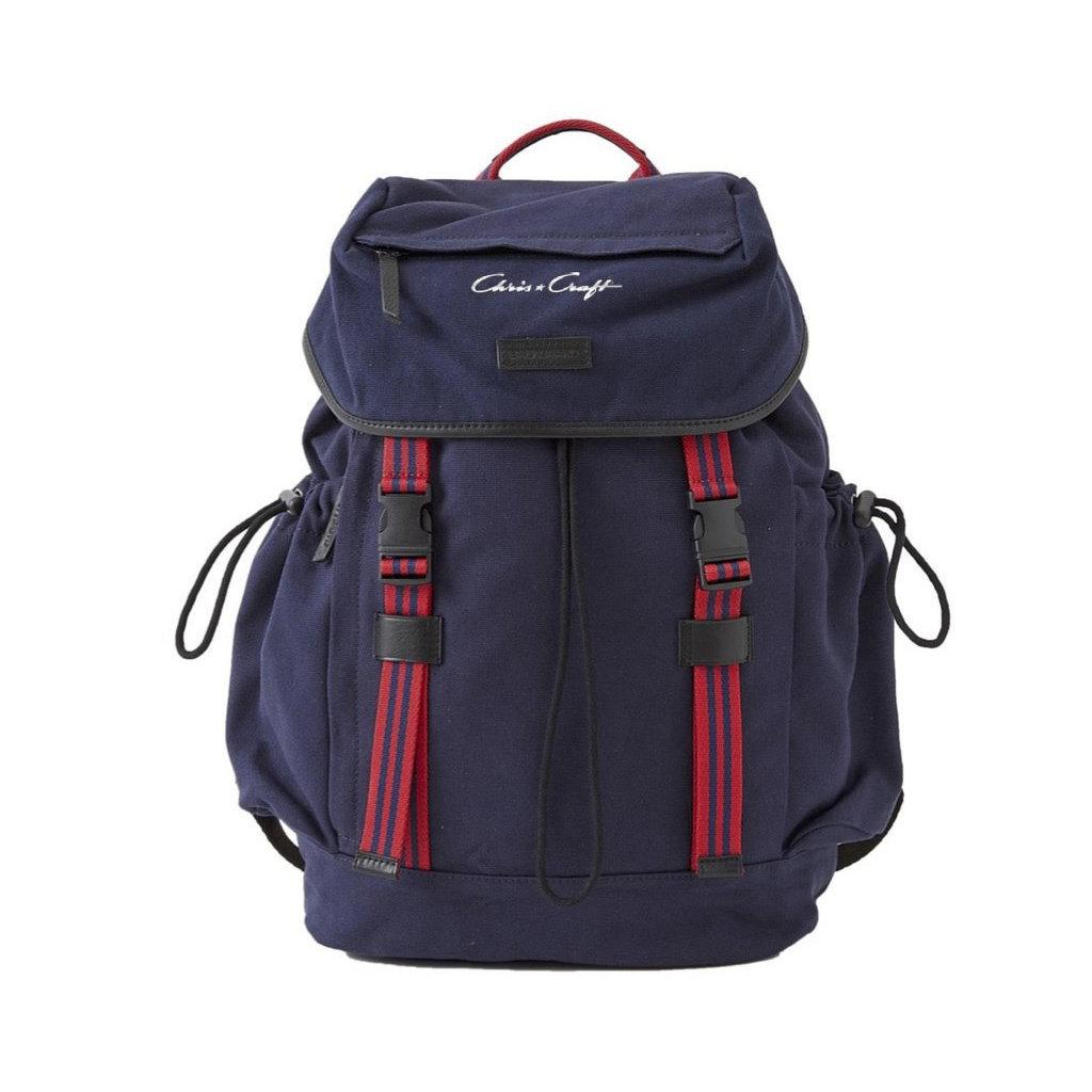 Chris Craft Sloan Backpack - Red/Navy Stripe