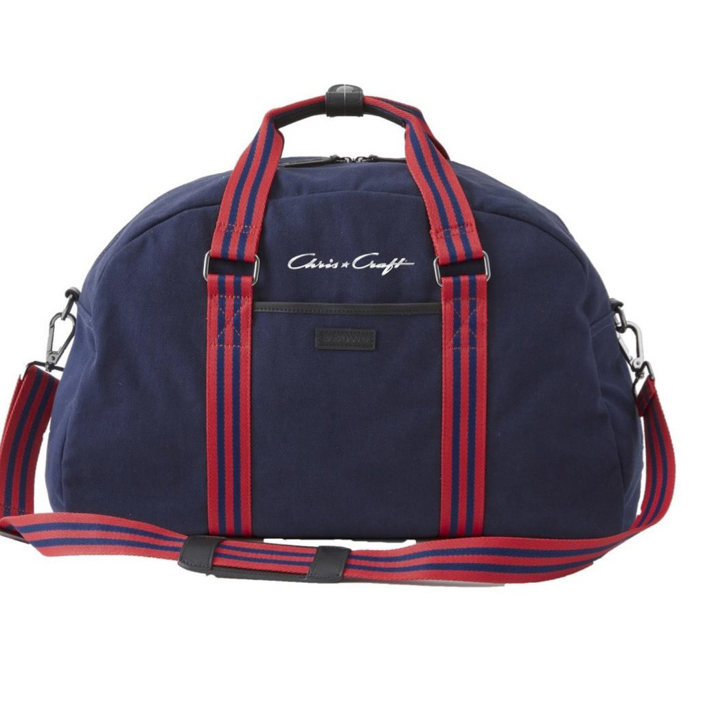 Chris Craft Sloan Gym Bag  - Red/Navy Stripe