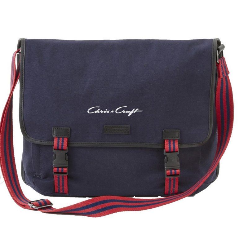 Chris Craft Sloan Messanger Bag  - Red/Navy Stripe
