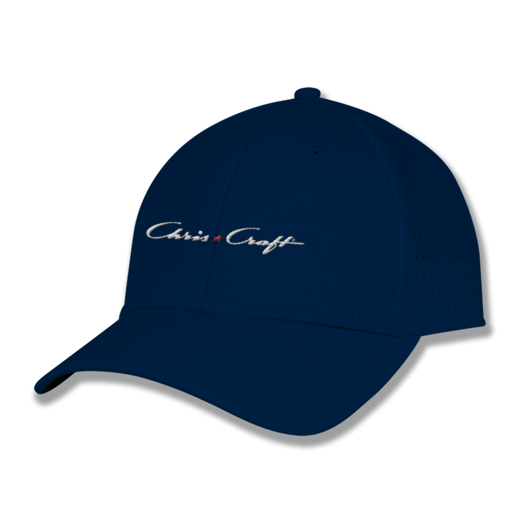 Chris Craft Ladies Perforated Gamechanger Hat - Navy