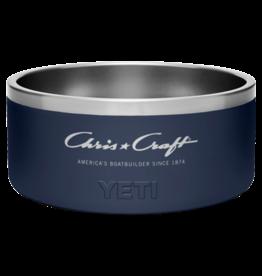Chris Craft Yeti Boomer Dog Bowl (Large) - Navy