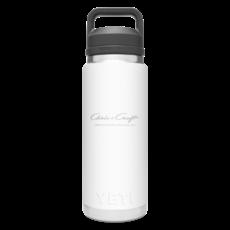 Chris Craft Yeti Water Bottle w/Chug Cap (26oz) - White