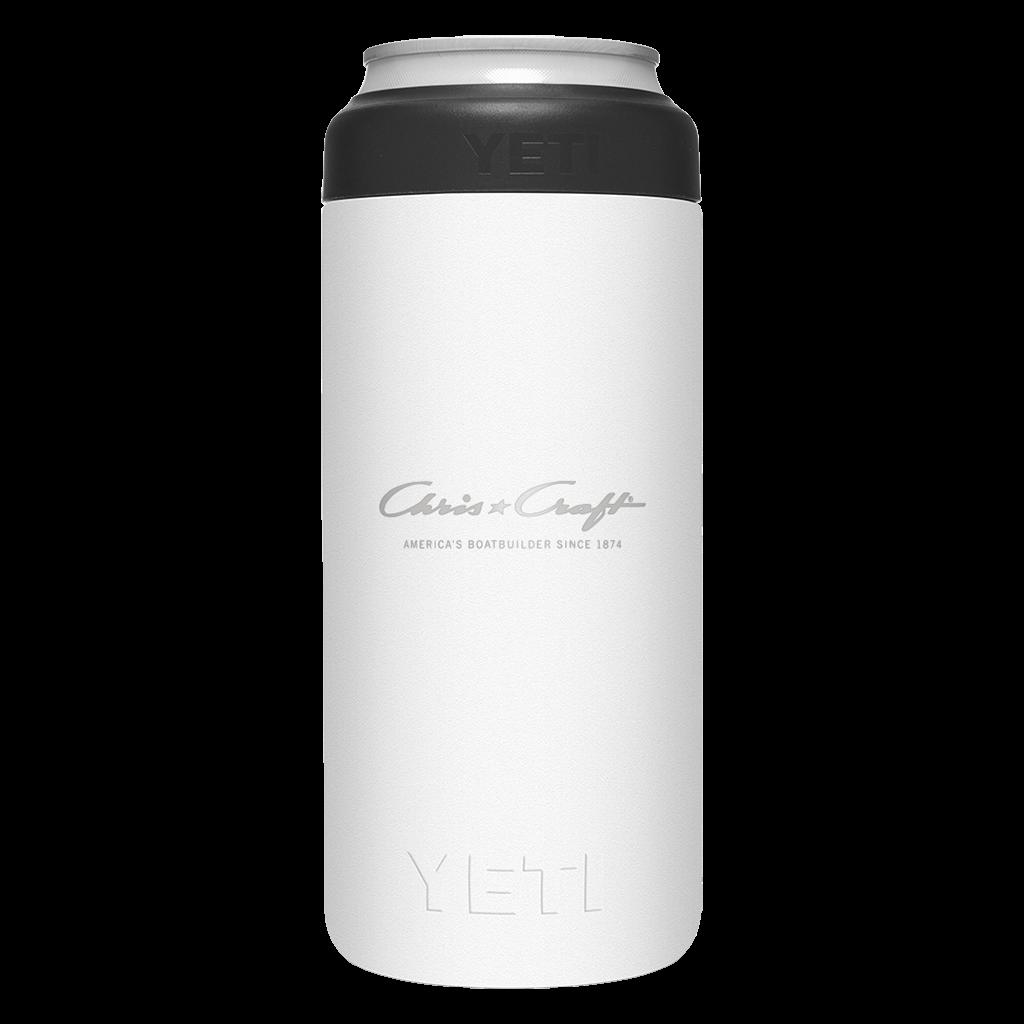 Chris Craft Yeti Slim Can Insulator (12oz) - White