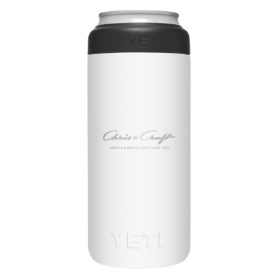 Chris Craft Yeti Slim Can Insulator (12oz) - White