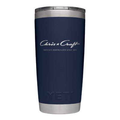 Chris Craft Yeti Rambler Tumbler with Magslider Lid (20oz) - Navy