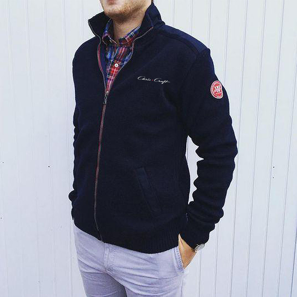 Chris Craft Gregor Full Zip WindSweater - Navy