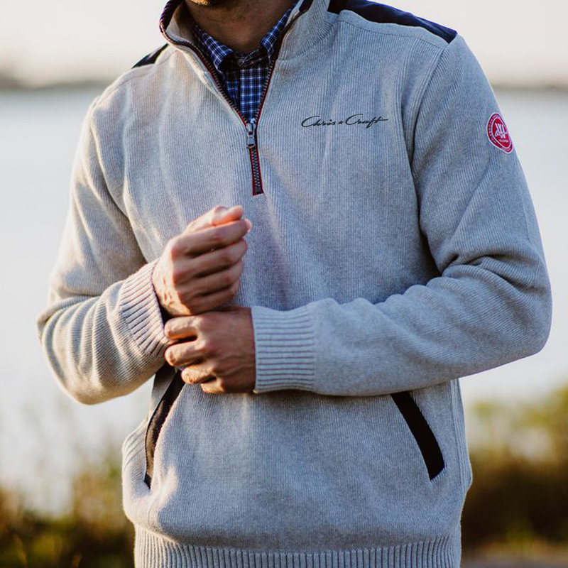 Chris Craft Gregor 1/4 Zip WindSweater - Lt. Grey
