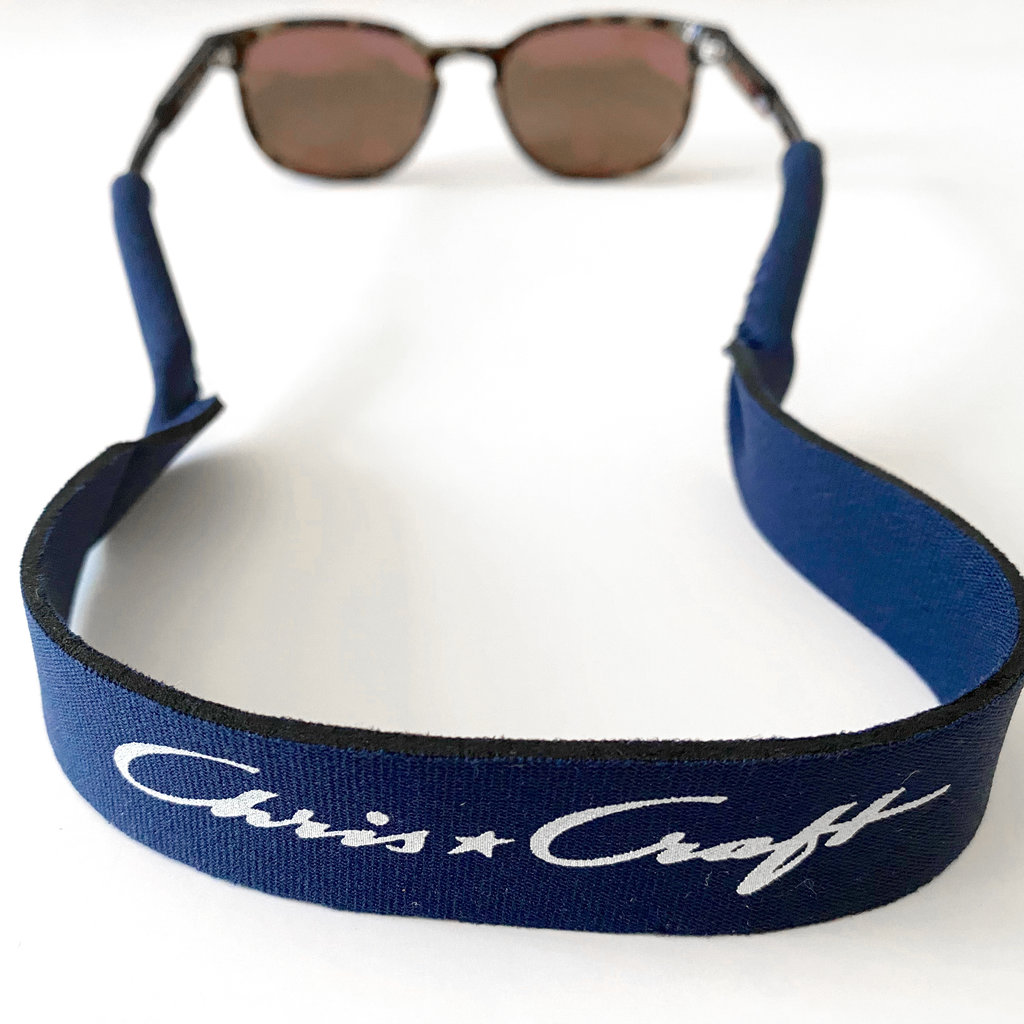 Chris Craft Navy Neoprene Sunglass Retainer with Chris-Craft Logo