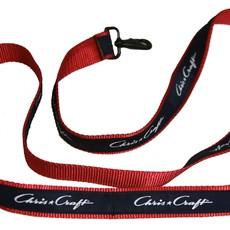 Chris Craft Chris Craft 5' Dog Leash - Red Nylon Web w/Navy Ribbon