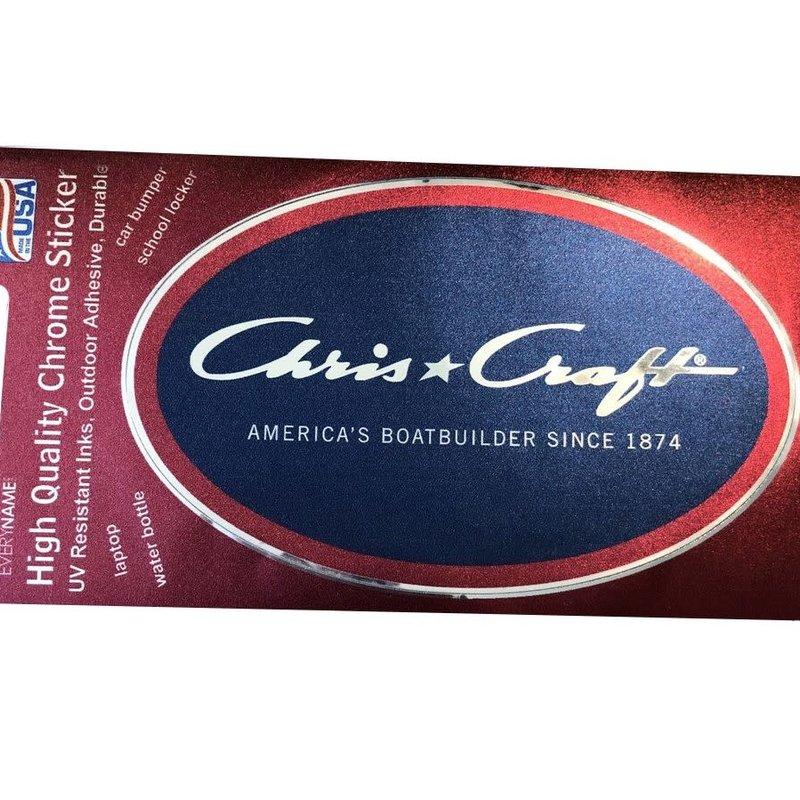 Chris Craft Oval Chrome Sticker