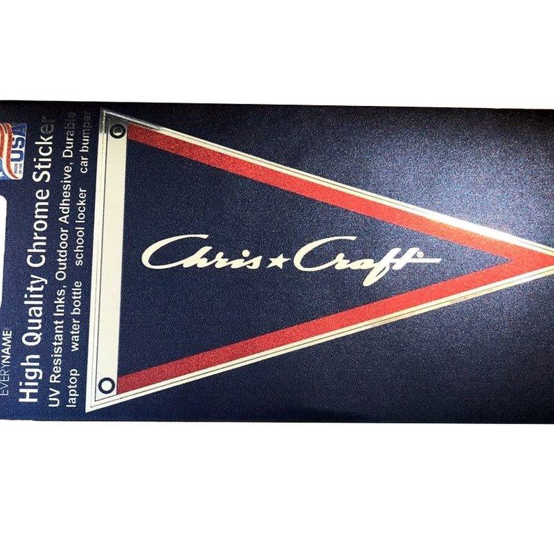 Chris Craft Pennant Flag Chrome Sticker