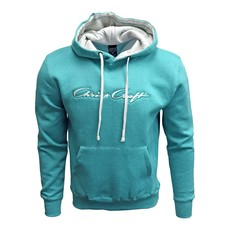 Hoodie Fleece Pullover Classic Logo Applique Seafoam
