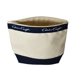 Chris Craft Chris Craft Mini Boat Pouch - Natural Canvas & Navy Gusset