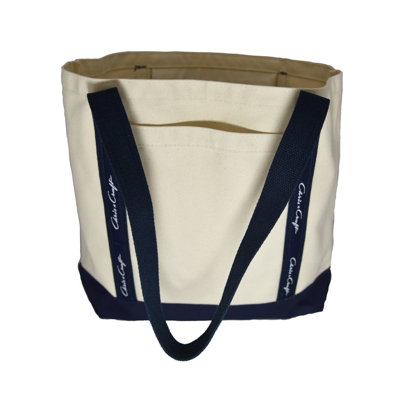 Chris Craft Chris Craft Canvas Chatham Tote Bag - Navy Straps w/Navy Gusset