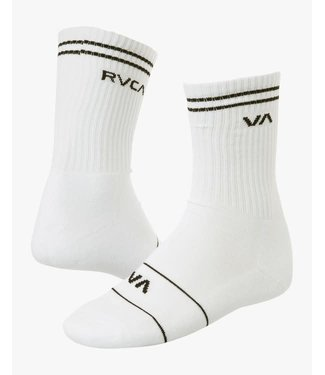RVCA RVCA UNION SKATE SOCK WHITE O/S
