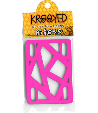 "Krooked Krooked Riser Pads 1/8"" Hot Pink - Single Set"
