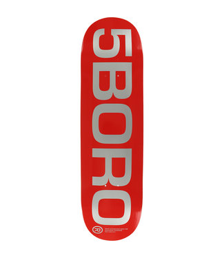 5Boro 5Boro Ext Logo deck Red 8.25