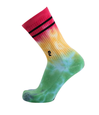 Psockadelic Socks  Tie Dye Green/Yellow/Red