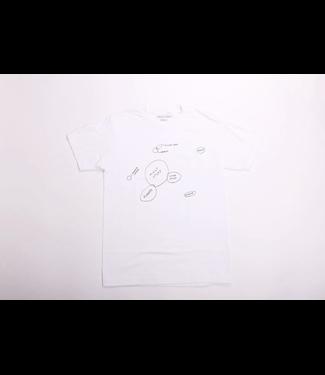 Skate Jawn Skate Jawn tee-  Venn Jawn/White