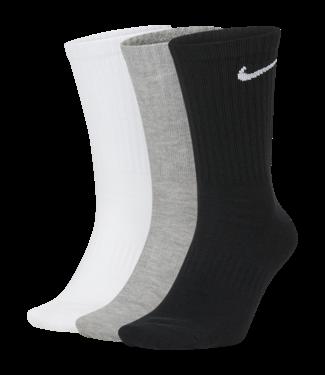 Nike NIKE EVERYDAY LIGHTWEIGHT CREW SOCKS SIZE L 3-PACK MULTICOLOR (BLACK,WHITE,GREY)