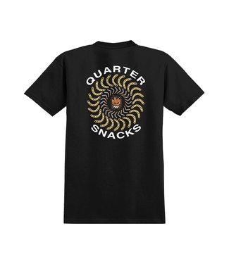 Spitfire x Quarter Snacks Tee BLK/WHT