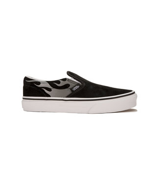 Vans UY Youth Classic Slip-On (SUEDE FLAME) B/(SUED