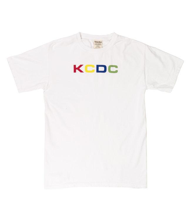 KCDC multicolor logo tee