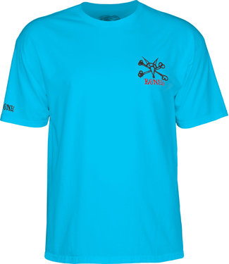 Bones Powell Peralta Rat Bones Youth Tee Turquoise