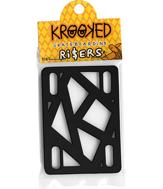 "Krooked Krooked Riser Pads 1/4"" Black - Single Set"
