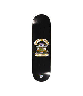 Kcdc KCDC Support Your Local Skateshop Board Black 8.25