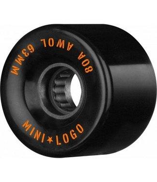 Minilogo Mini logo A.W.O.L wheels  Black 63M X 80
