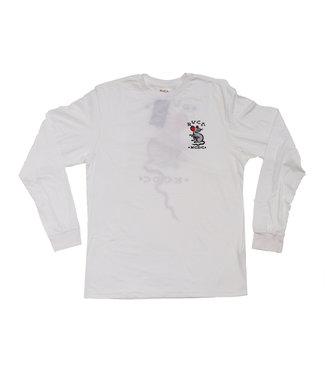 RVCA Krak Long Sleeve Tee White