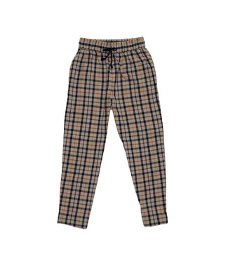 RVCA TETRAS PLAID HIGH RISE PANT