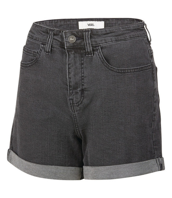 Vans High Rise Roll Cu Womens Black Fade Shorts