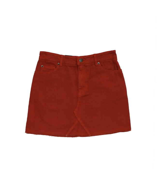 RVCA SIENA high rise denim skirt