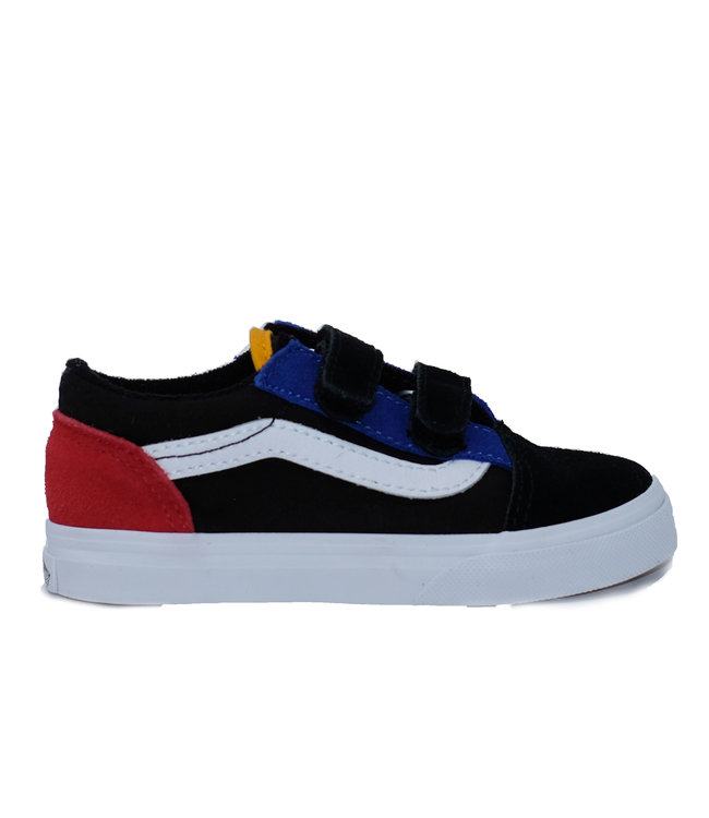 Vans Toddler Old Skool V (Color Block) Black/True White