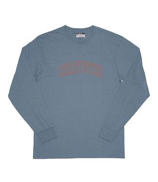 Chrystie Chrystie Collegiate Logo Long Sleeve Shirt Stone Blue