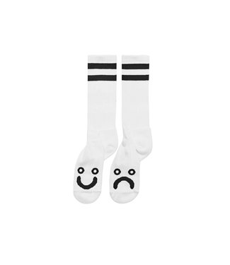 Polar Happy Sad Socks - Long - White -Size 35-38