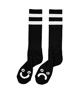 Polar Happy Sad Socks - Long - Black -Size 35-38