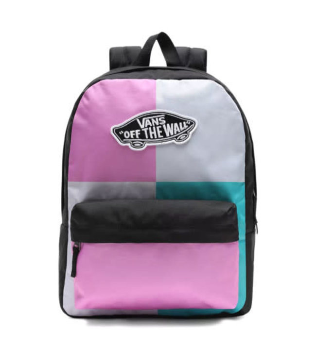 VANS WOMENS REALM BACKPACK ORCHID/PATCHWORK ORCHID