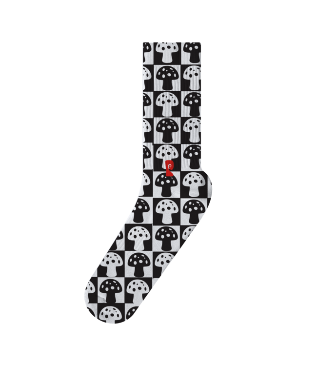 Psockadelic Sock  Checkered Mush Psock