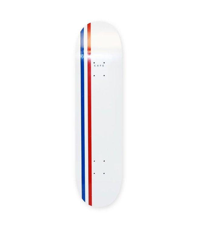 Cafe Deck  Stripe Deck (White/Royal/Red) 8.5