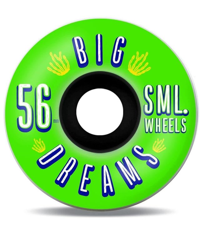 SML Wheels  Succulent Cruiser Greenies V-Cut 92a - Greenies - 56 mm