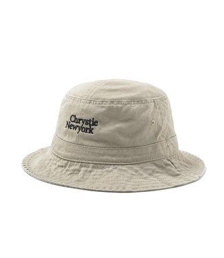 Chrystie Chrystie Classic Logo Bucket Hat_Khaki