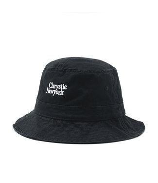 Chrystie Chrystie Classic Logo Bucket Hat_Black