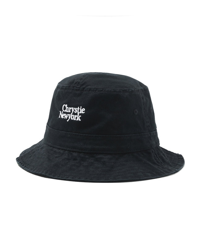 Chrystie Classic Logo Bucket Hat_Black